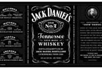 001 Liquor Bottle Labels Template Ideas Whiskey New Free pertaining to Blank Jack Daniels Label Template