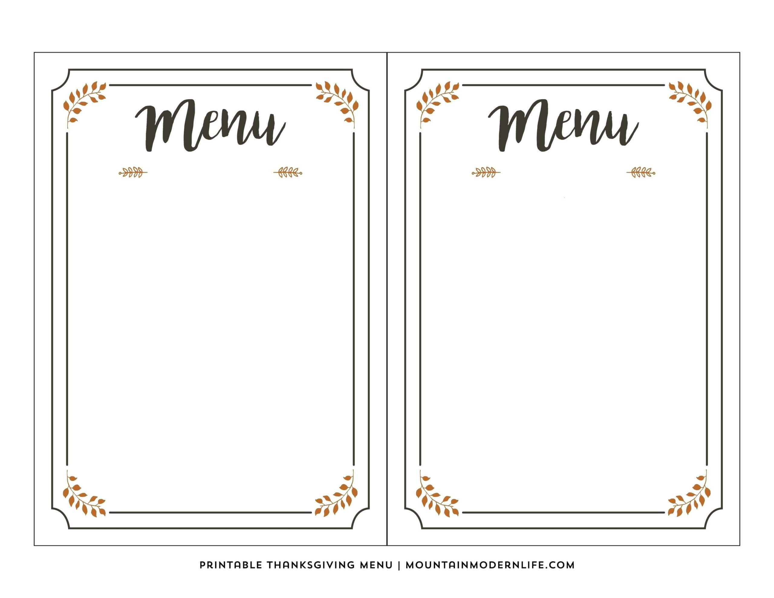 001 Printable Menu Selo Yogawithjo Co With Regard To Blank Throughout Blank Restaurant Menu Template