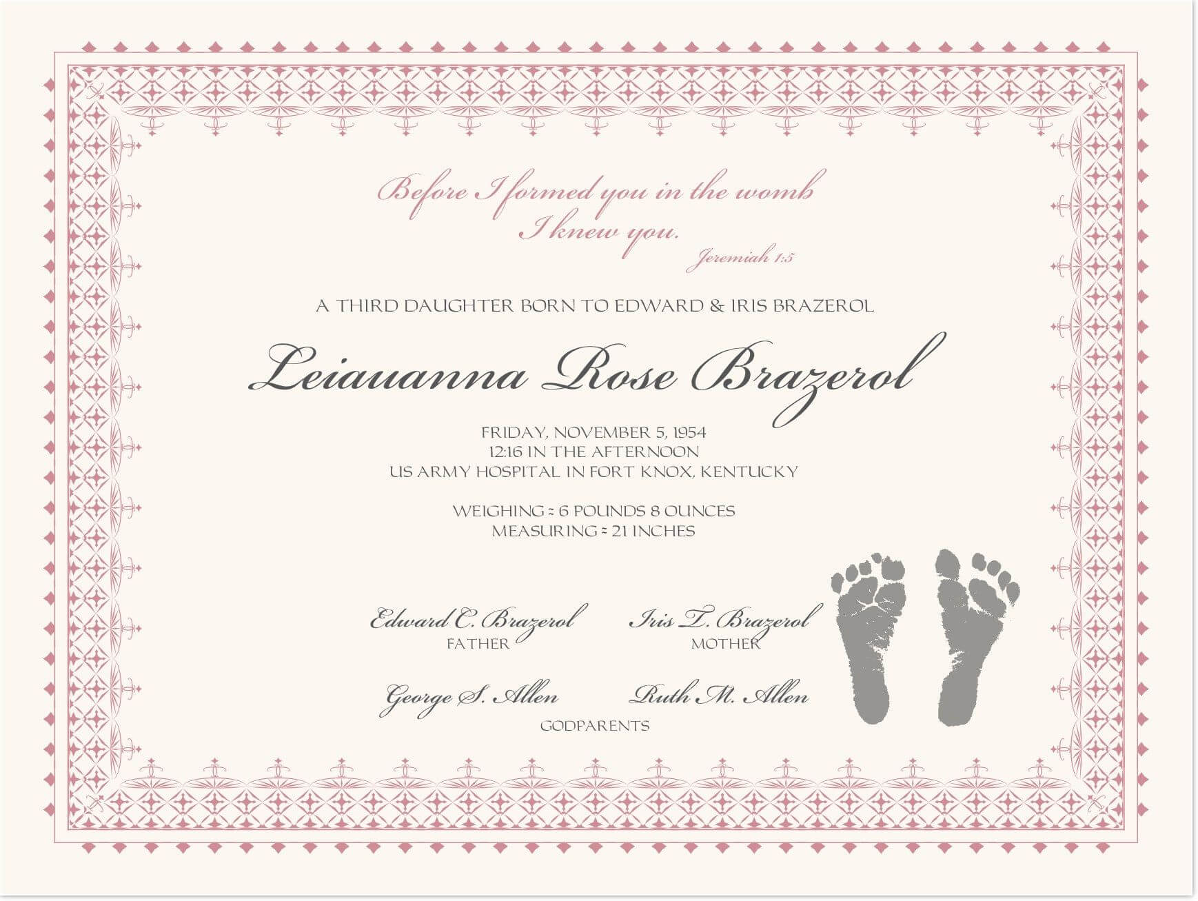 002 Baby Dedication Certificate Template Ideas Wonderful Regarding Baby Christening Certificate Template