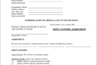 002 Child Custody Agreement Form Ontario Template Doliquid intended for Child Custody Agreement Template