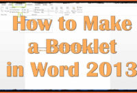 002 Free Booklet Templates For Microsoft Word How To Make In pertaining to Booklet Template Microsoft Word 2007