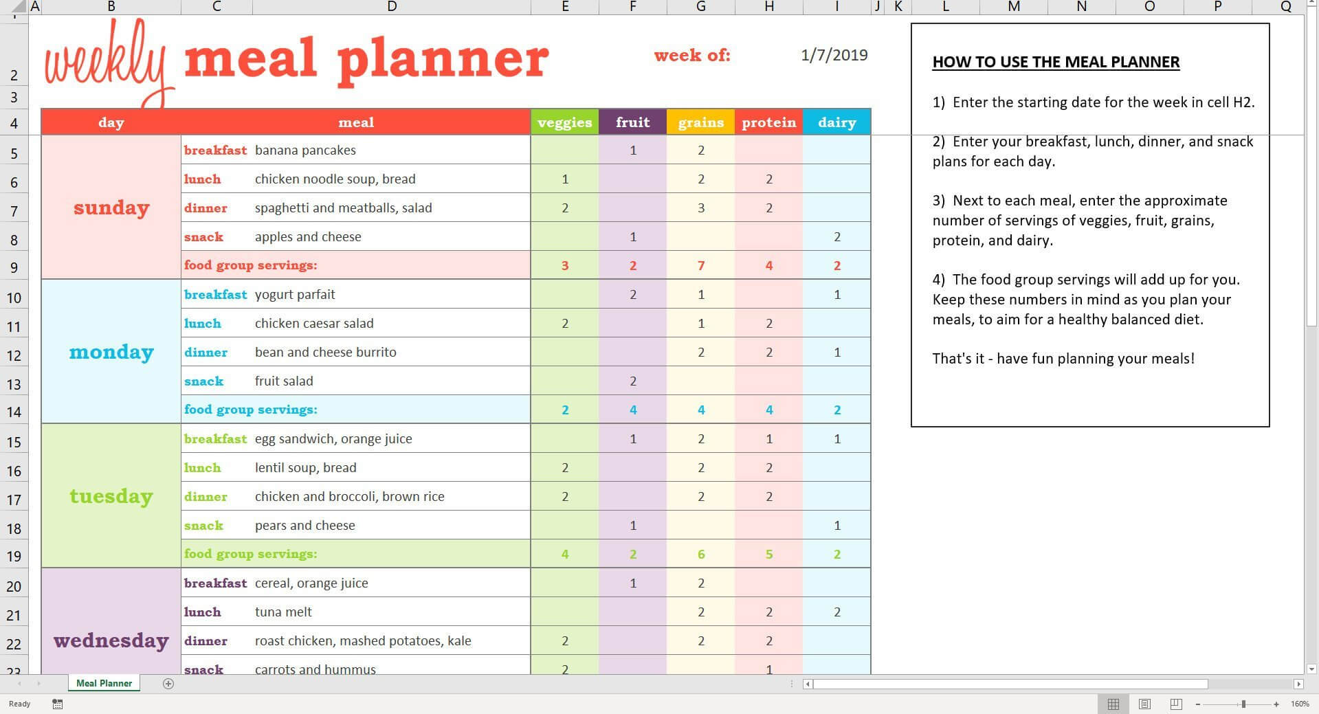 002 Meal Plan Excel Spreadsheet Il Fullxfull 1742755636 Fpg9 With 21 Day Fix Template