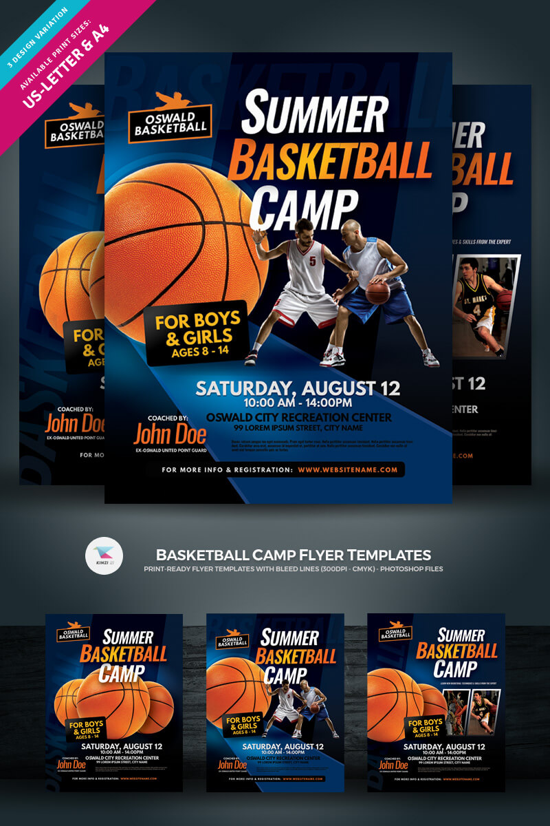 002 Original Basketball Camp Brochure Template Free In Basketball Camp Brochure Template