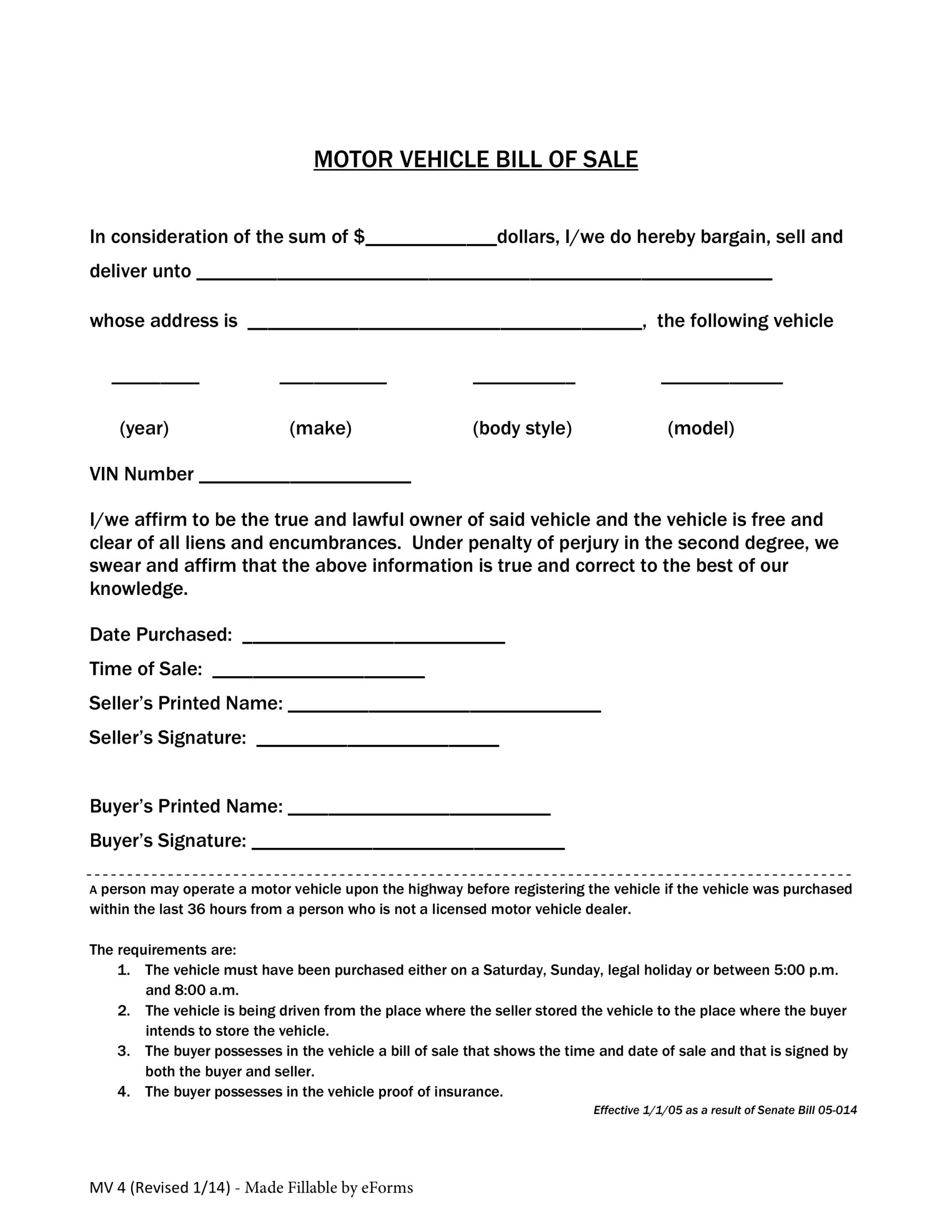 002 Vehicle Bill Of Sale Template Colorado Dmv Form Free Pdf Pertaining To Bill Of Sale Template Colorado