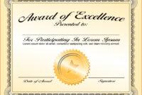 003 Award Certificate Template Word Free Download Ideas Of throughout Award Certificate Template Powerpoint