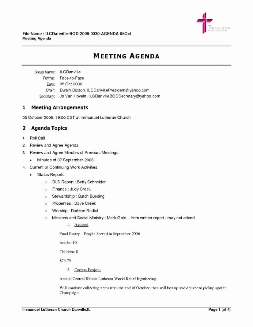 003 Board Of Directors Meeting Agenda Template Inspirational Pertaining To Board Of Directors Meeting Agenda Template