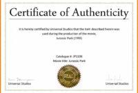 003 Certificate Of Authenticity Autograph Template Freel for Certificate Of Authenticity Template