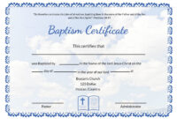 003 Certificate Of Baptism Template Ideas Unique Word Church throughout Baptism Certificate Template Word
