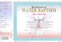 003 Certificate Of Baptism Template Ideas Unique Word Church with regard to Christian Certificate Template