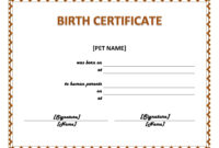 003 Official Birth Certificate Template Charming Designs within Blank Adoption Certificate Template