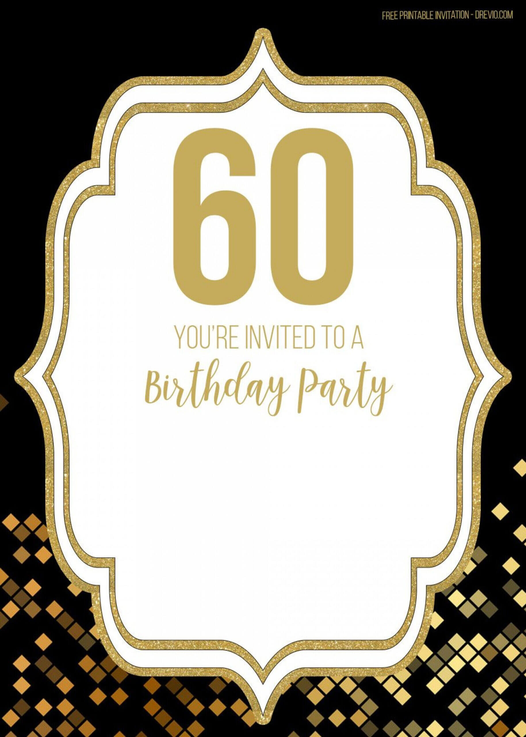 003 Template Ideas 60Th Birthday Invitations Marvelous 60 Throughout 60Th Birthday Party Invitation Template