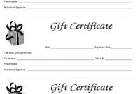 003 Template Ideas Blank Gift Certificate Astounding Free with Black And White Gift Certificate Template Free