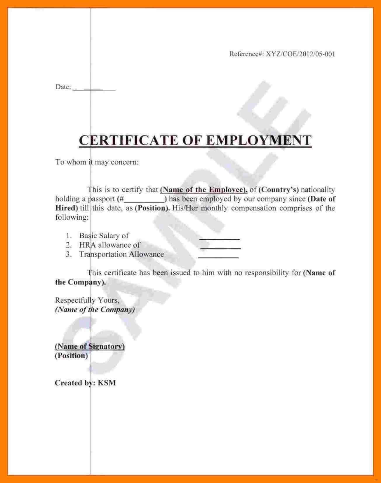 003 Template Ideas Certificate Of Employment Sample In Japan Throughout Certificate Of Service Template Free
