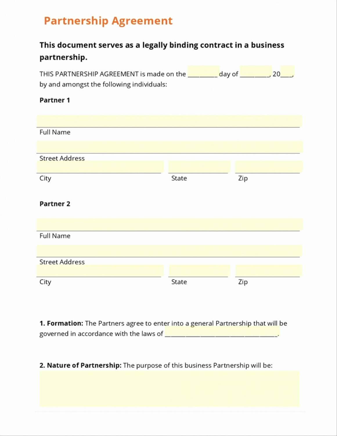 003 Template Ideas Simple Partnership Amazing Agreement Uk In Business Partnership Contract Template Free