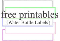 003 Water Bottle Labels Template Free Unbelievable Ideas for Birthday Water Bottle Labels Template Free