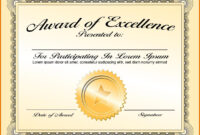 005 Appealing Certificate Award Template Free Designs Of inside Certificate Of Accomplishment Template Free