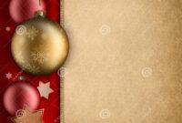 005 Christmas Card Template Baulbles Stars Blank Space Text inside Blank Christmas Card Templates Free