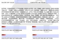 005 Colorado Motor Vehicle Bill Of Sale Form Template for Bill Of Sale Template Colorado