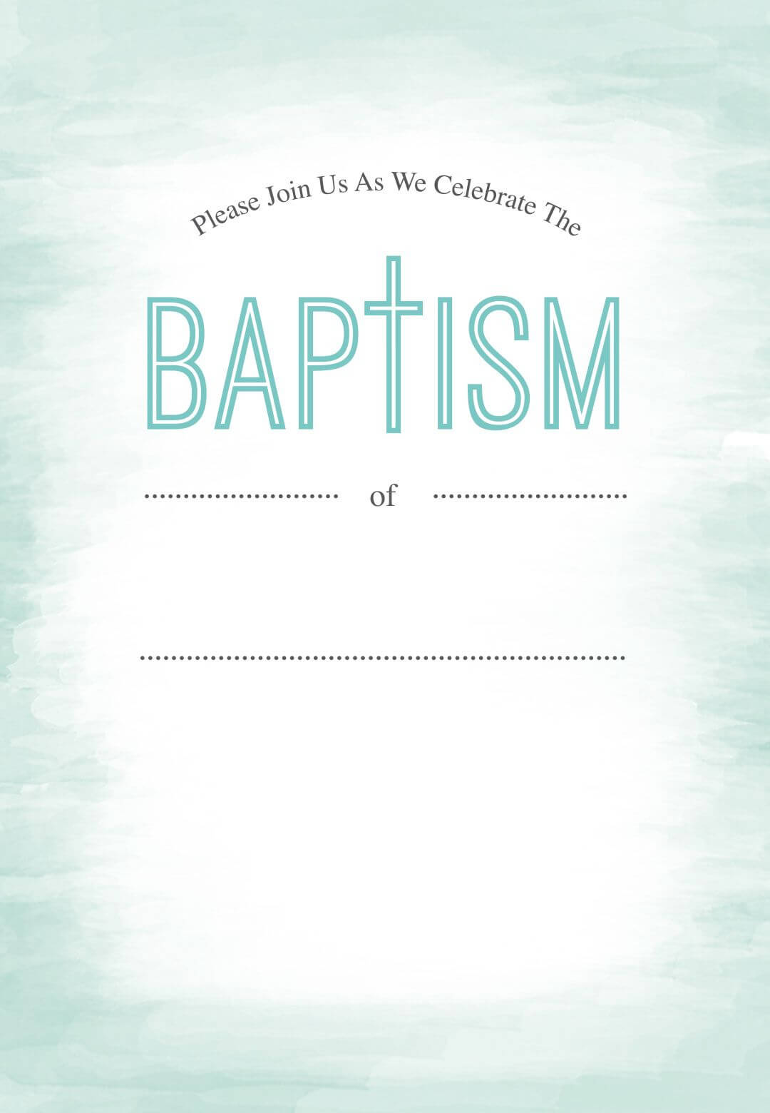 005 Free Baptism Invitation Templates Template Ideas In Blank Christening Invitation Templates