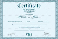 005 Marriage Certificate Template28129 Of Template Beautiful intended for Certificate Of Marriage Template