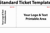 005 Printable Raffle Ticket Template Free With Numbers throughout Blank Elephant Template