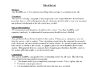 006 Chemistry Lab Report Template Striking Ideas Format within Chemistry Lab Report Template
