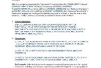 006 Image2 Non Compete Agreement Template Best Ideas Free in Business Templates Noncompete Agreement