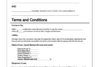 006 Personal Loan Agreement Template Free Phenomenal Ideas intended for Blank Loan Agreement Template