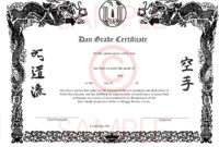 006 Template Ideas Martial Arts Certificate Templates Free in Art Certificate Template Free
