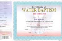 007 Certificate Of Baptism Template Ideas Unique Church with Christian Baptism Certificate Template