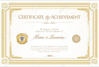 007 Template Ideas Certificate Of Achievement Or Army with regard to Certificate Of Achievement Army Template