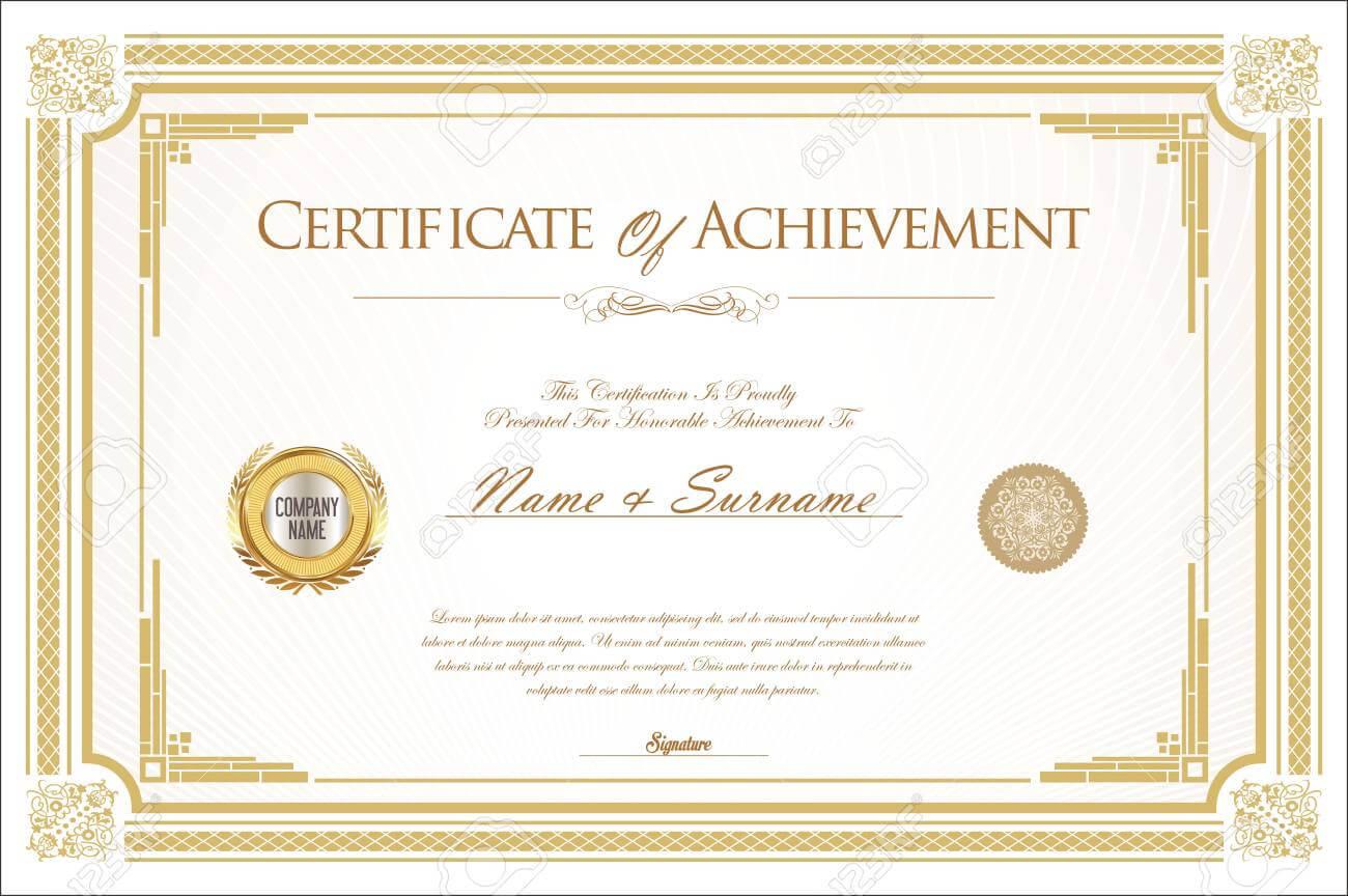 007 Template Ideas Certificate Of Achievement Or Army With Regard To Certificate Of Achievement Army Template