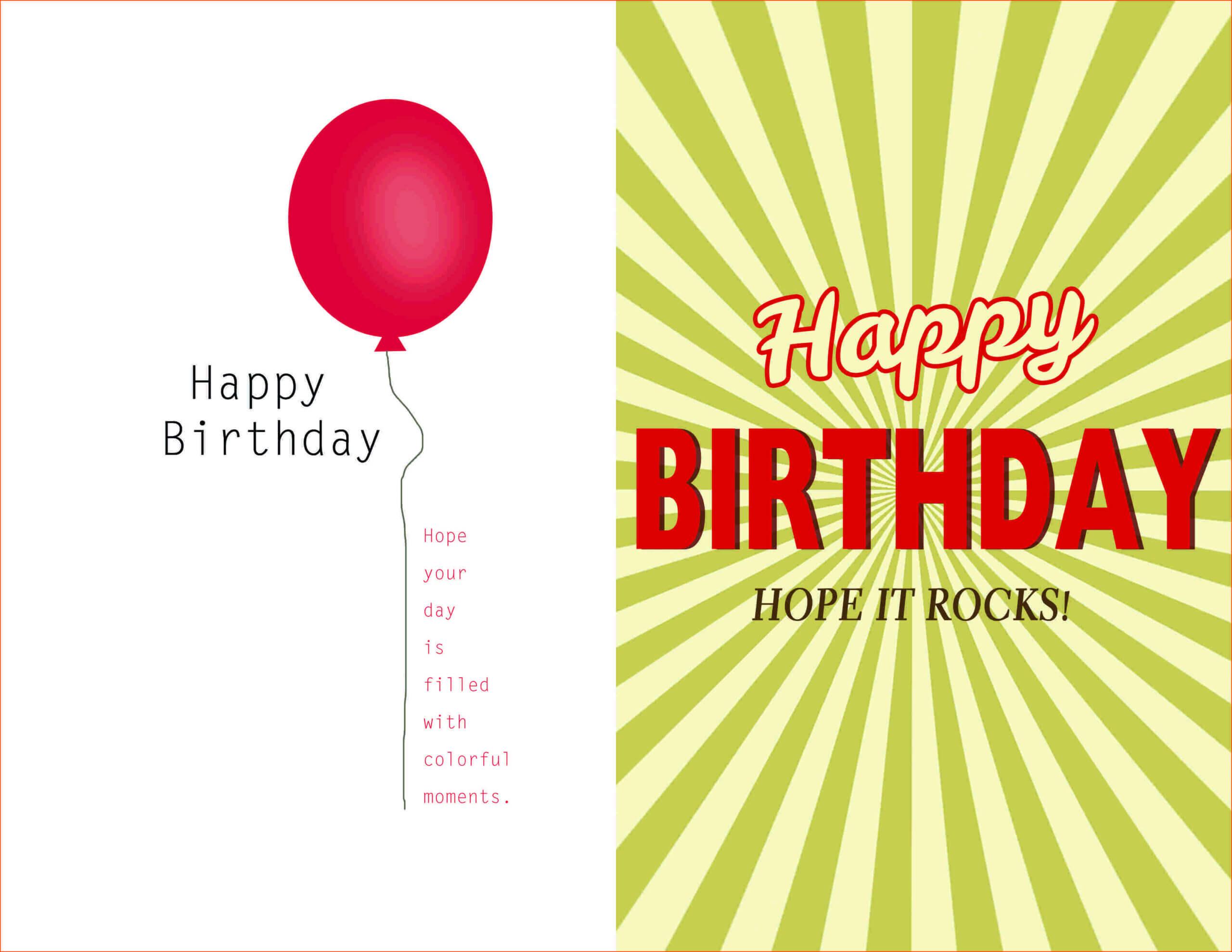 007 Template Ideas Creative Birthday Invitation Quarter Fold Within Birthday Card Publisher Template
