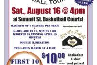 007 Template Ideas On Basketball Tournament Flyer Free with regard to 3 On 3 Basketball Tournament Flyer Template