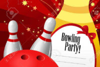 007 Template Ideas Vector Illustration Of Bowling Party with Bowling Flyers Templates Free