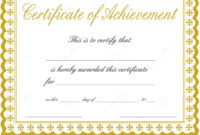008 Certificate Of Achievement Template Free Download Word pertaining to Blank Certificate Templates Free Download