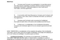 008 Non Compete Agreement Template Free Independent with regard to Business Templates Noncompete Agreement