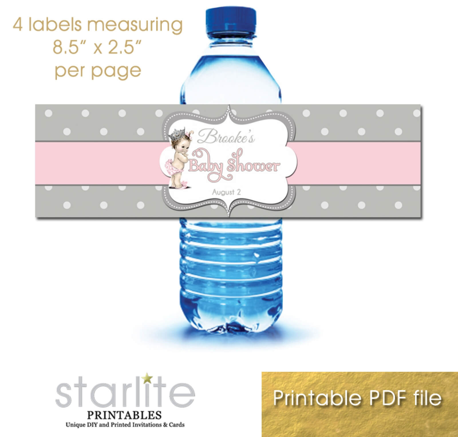 008 Template Ideas Vp Btl Pkgr Dots Water Bottle Labels Free Intended For Baby Shower Water Bottle Labels Template