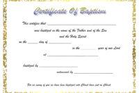 009 Certificate Of Baptism Template Unique Ideas Catholic in Baptism Certificate Template Word