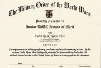 010 Army Certificate Of Achievement Template Microsoft Word in Army Certificate Of Achievement Template