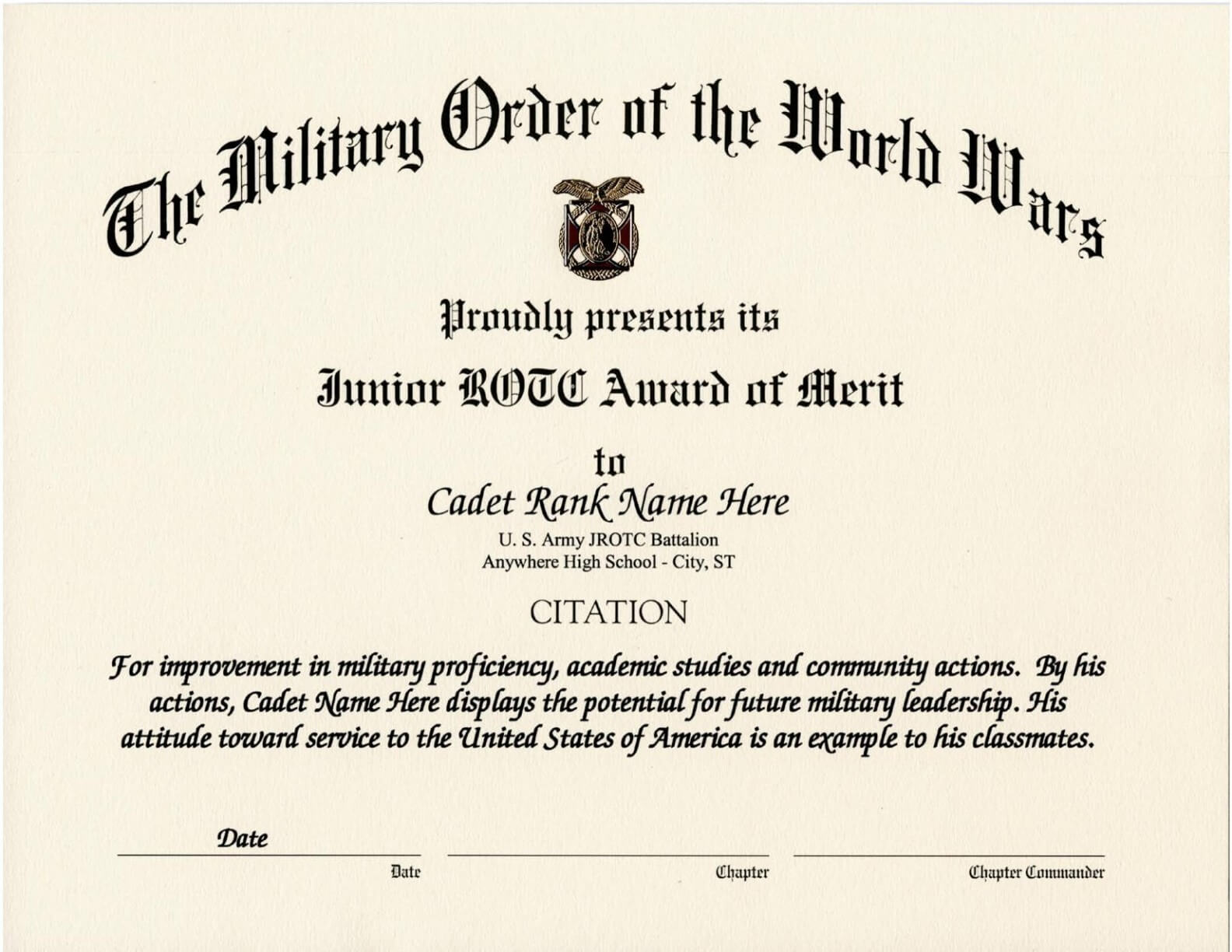 010 Army Certificate Of Achievement Template Microsoft Word Regarding Certificate Of Achievement Army Template