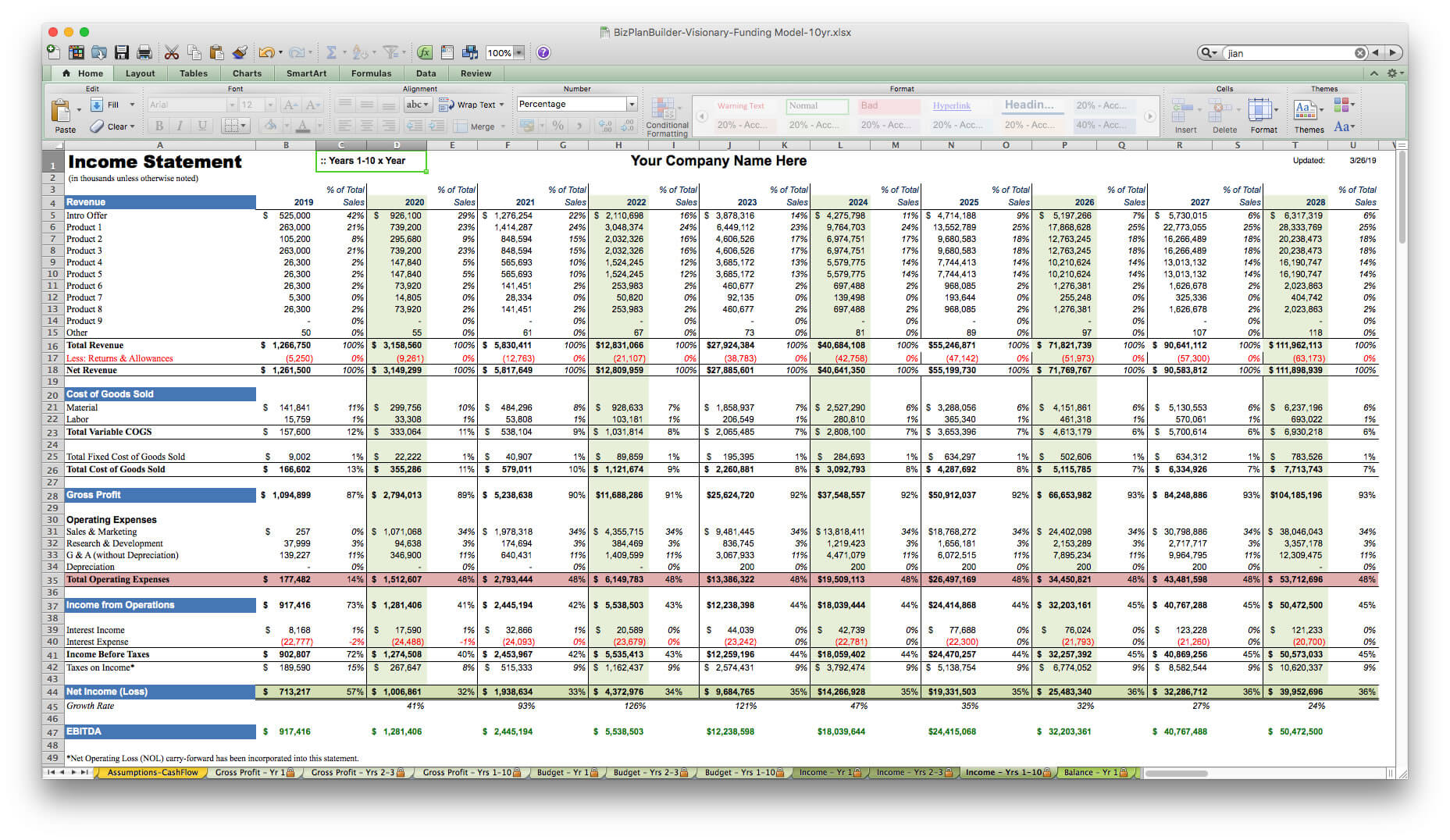 010 Template Ideas Screen Image Business Plan Year Financial For Business Plan Financial Template Excel Download