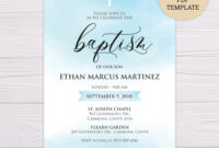 011 Free Baptism Invitation Templates Template Ideas Boy1 intended for Blank Christening Invitation Templates