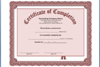 011 Free Printable Certificate Of Completion Template inside Certificate Of Completion Template Free Printable