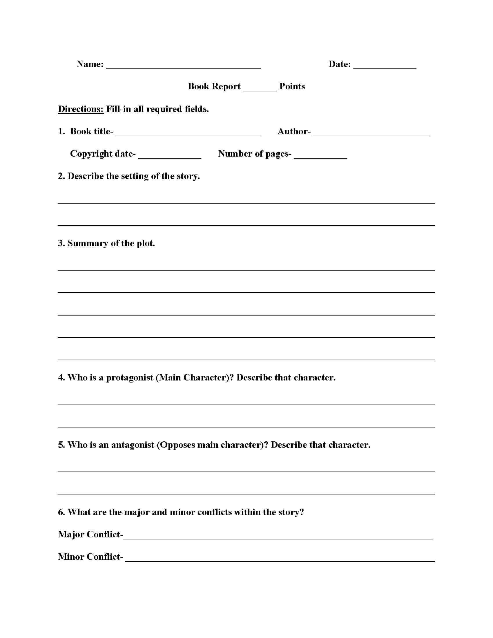 011 Template Ideas 6Th Grade Book Report High Non Fiction For 6Th Grade Book Report Template