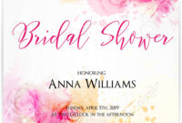 012 Bridal Shower Invitation Template With Abstract Roses On with Bridal Shower Invite Template