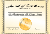 012 Certificate Of Achievement Template Word Free Printable inside Blank Certificate Of Achievement Template