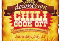 012 Chili Cook Off Flyer Template Cookoff Poster Redesigned for Chili Cook Off Flyer Template