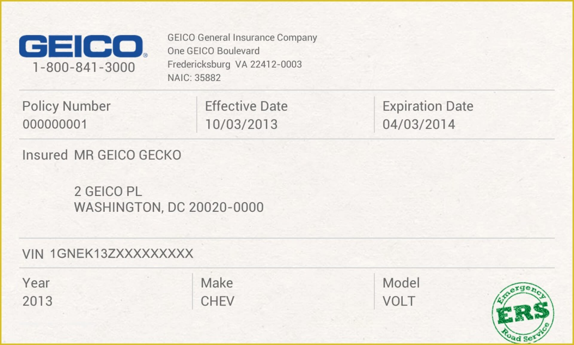 012 Company Car Policy Template Free Auto Insurance Id Card Pertaining To Auto Insurance Card Template Free Download