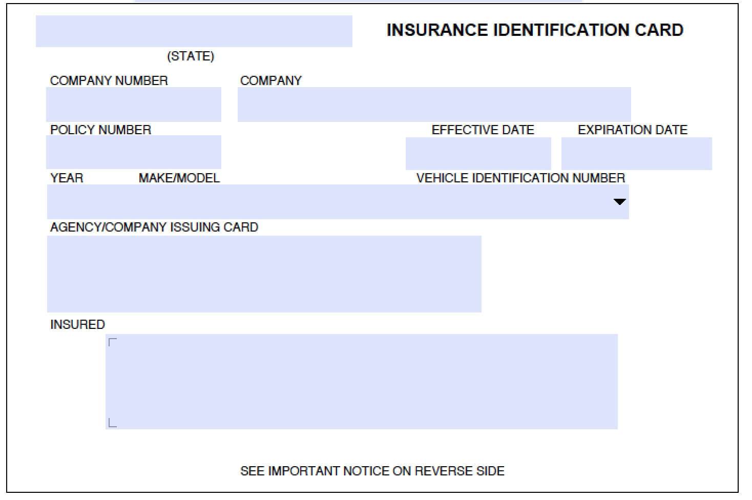 012 Company Car Policy Template Free Auto Insurance Id Card Within Auto Insurance Id Card Template